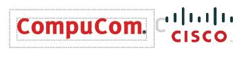 CompuCom logo usage examples